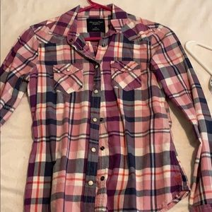 Flannel button down (snaps)